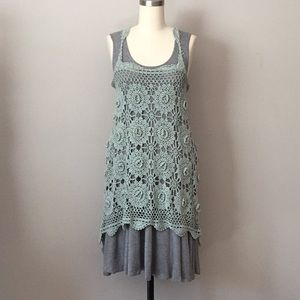 Dresses & Skirts - Crochet high low dress